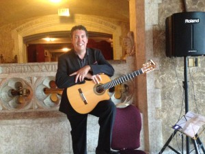 Andrew Ibanez performing at the Fairmont Banff Springs Hotel in Banff Alberta